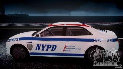 Carbon Motors E7 Concept Interceptor NYPD [ELS] para GTA 4 motor