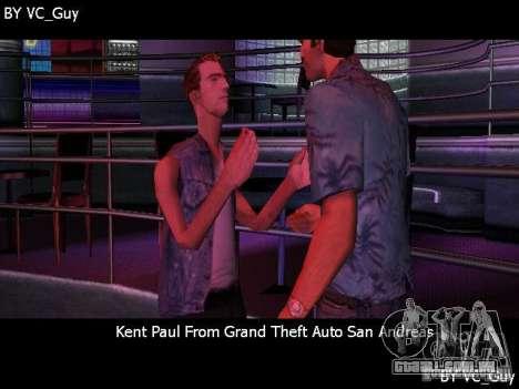 SA Characters para GTA Vice City por diante tela