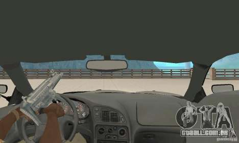 Mitsubishi Eclipse FnF para GTA San Andreas vista traseira