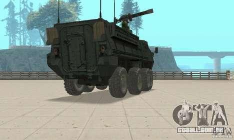 Stryker para GTA San Andreas esquerda vista