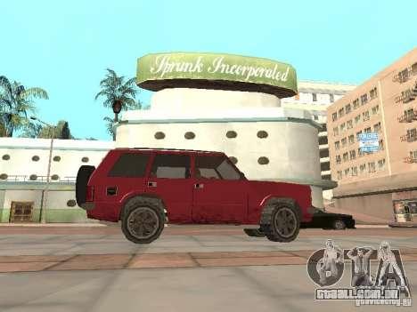 O novo Huntley para GTA San Andreas esquerda vista