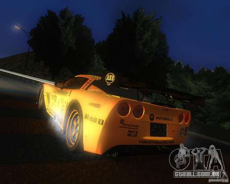 Chevrolet Corvette Drift para GTA San Andreas esquerda vista