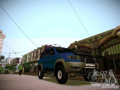 UAZ 3160 patriota para GTA San Andreas vista interior