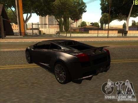 Lamborghini Gallardo Superleggera 2006 para GTA San Andreas vista direita