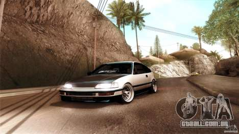 Honda CRX JDM para GTA San Andreas traseira esquerda vista