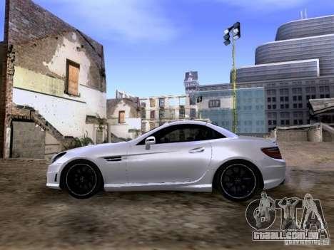 Mercedes-Benz SLK55 AMG 2012 para GTA San Andreas vista traseira