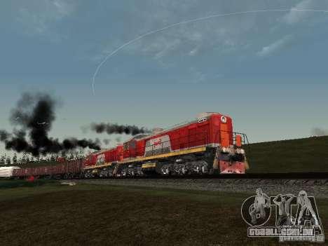 RZD Tem2-6883 para vista lateral GTA San Andreas