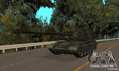 2s19 Msta-s, versão de inverno para GTA San Andreas esquerda vista