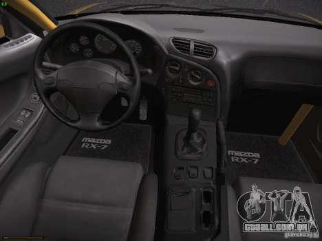Mazda RX-7 FD3S C-West Custom para GTA San Andreas vista traseira