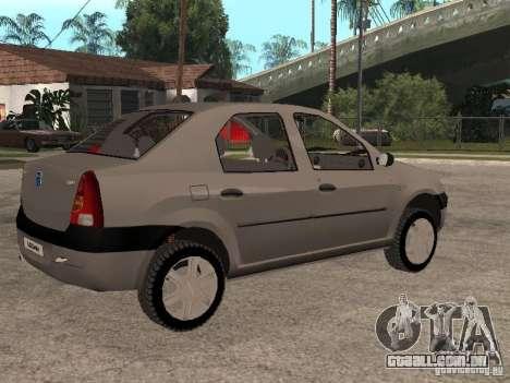 Dacia Logan 1.6 para GTA San Andreas vista interior