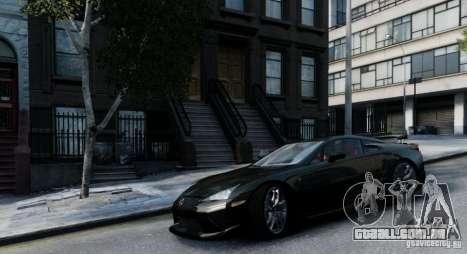 Lexus LF-A para GTA 4 traseira esquerda vista