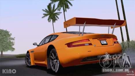 Aston Martin Racing DBRS9 GT3 para GTA San Andreas vista direita