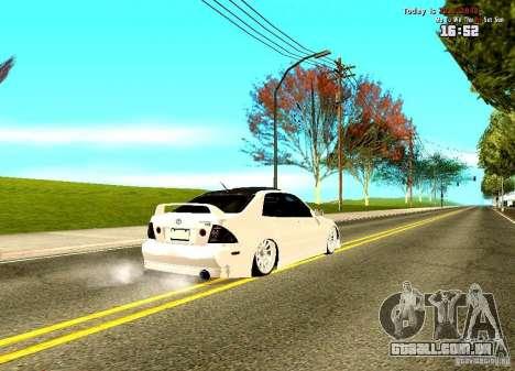 Toyota Altezza para GTA San Andreas traseira esquerda vista