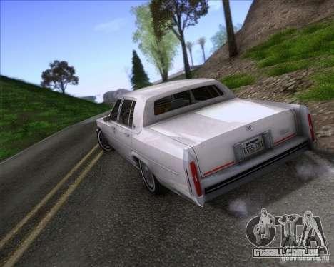 Cadillac Fleetwood Brougham 1985 para GTA San Andreas esquerda vista