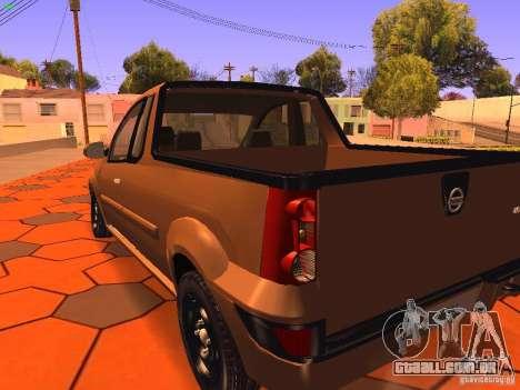 Nissan NP200 para GTA San Andreas vista traseira