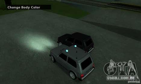 VAZ 21213 NIVA FBI para GTA San Andreas traseira esquerda vista