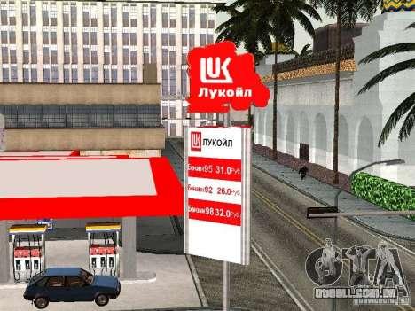 Posto de gasolina Lukoil para GTA San Andreas terceira tela