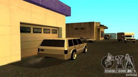Huntley Sport para GTA San Andreas traseira esquerda vista