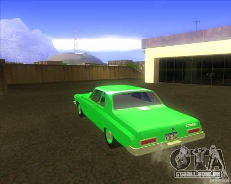 Dodge 330 1963 Max Wedge Ramcharger para GTA San Andreas vista direita