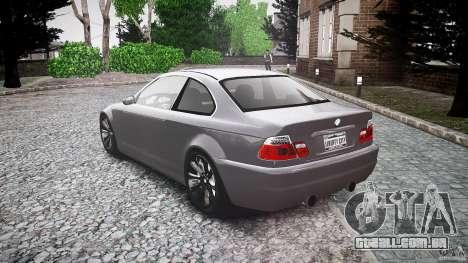 BMW 3 Series E46 v1.1 para GTA 4 traseira esquerda vista