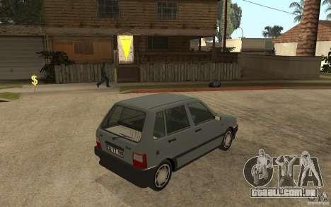 Fiat Uno 70s para GTA San Andreas vista direita