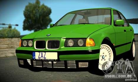 BMW E36 320i para GTA San Andreas esquerda vista
