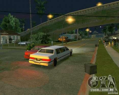 Elegant Limo para GTA San Andreas traseira esquerda vista