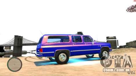 Chevrolet Suburban 1986 para GTA 4 vista de volta