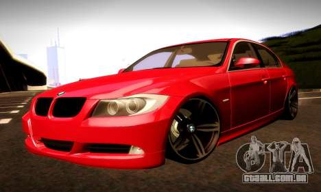 BMW 330 E90 para GTA San Andreas vista inferior