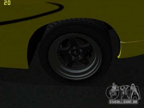 Lamborghini Diablo SV para GTA San Andreas vista interior