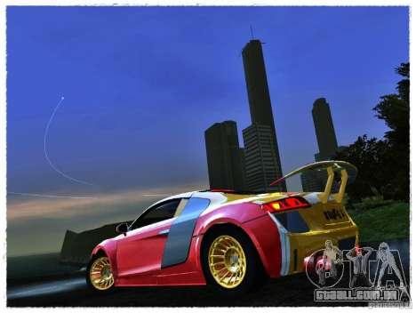 Audi R8 Calibri-Ace para GTA San Andreas traseira esquerda vista