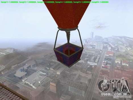 Balão-estilo hippie para GTA San Andreas traseira esquerda vista