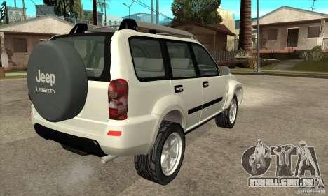 Jeep Liberty 2007 para GTA San Andreas vista direita