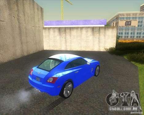 Chrysler Crossfire para GTA San Andreas traseira esquerda vista