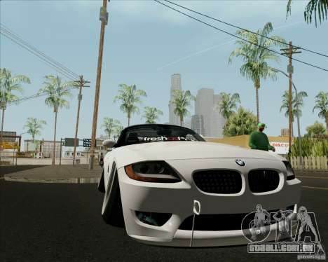 BMW Z4 Hellaflush para GTA San Andreas vista interior
