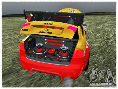 Audi RS4 Calibri-Ace para GTA San Andreas vista traseira