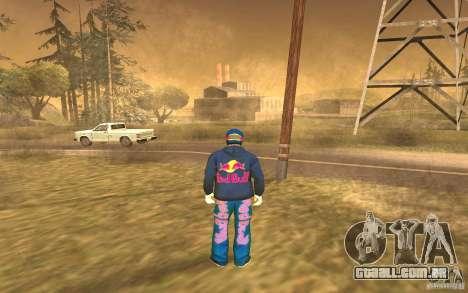 Red Bull Clothes v1.0 para GTA San Andreas por diante tela