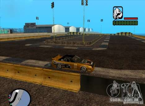 Nova faixa para drifting para GTA San Andreas segunda tela