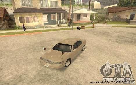 Lincoln Towncar Secret Service para vista lateral GTA San Andreas