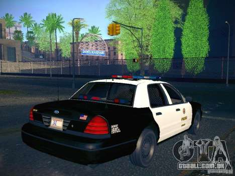 Ford Crown Victoria Police Intercopter para GTA San Andreas esquerda vista