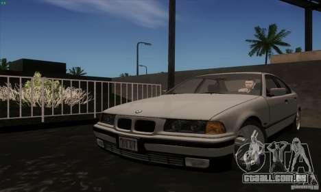 BMW 320i E36 para GTA San Andreas traseira esquerda vista