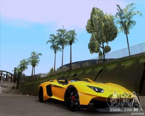 Lamborghini Aventador J TT Black Revel para GTA San Andreas vista direita