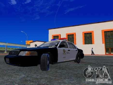 Ford Crown Victoria San Andreas State Patrol para GTA San Andreas esquerda vista
