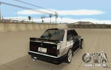 BMW E30 M3 - Coupe Explosive para vista lateral GTA San Andreas