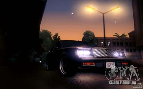 Buick Regal GNX para GTA San Andreas vista interior