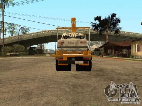 MAZ 54323 REBOQUE para GTA San Andreas traseira esquerda vista