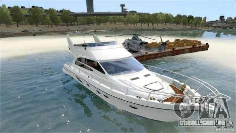 Luxury Yacht para GTA 4 vista interior