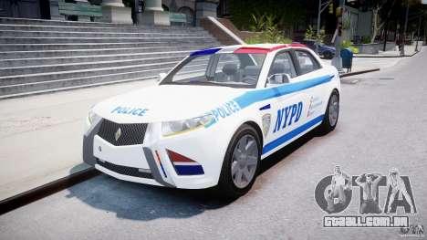Carbon Motors E7 Concept Interceptor NYPD [ELS] para GTA 4 vista de volta