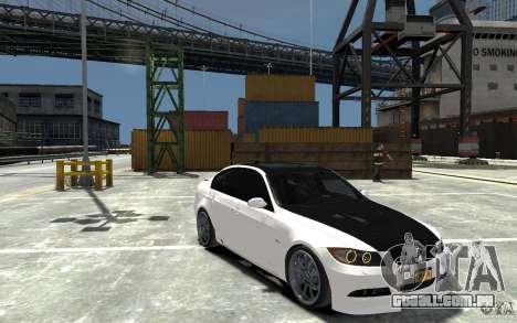 BMW 330i E60 Tuned 1 para GTA 4 vista de volta
