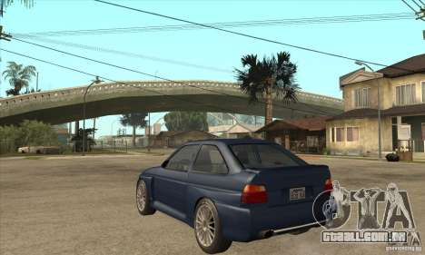 Ford Escort RS Cosworth para GTA San Andreas vista interior